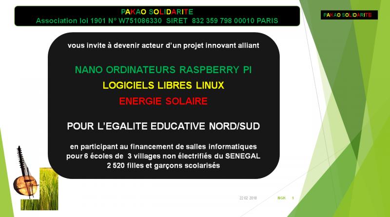 [Solidarité] Projet d'équipement informatique dans des écoles au Sénégal